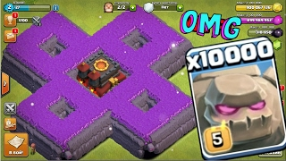 Download 10000 golem attack in clash of clans OMG heaviest attack ever in coc history Video