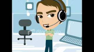 Download funny call center agent Video