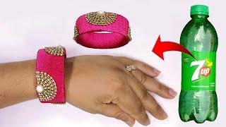 Download বোতল দিয়ে হাতের বালা,চুড়ি //Plastic Bottle Jewellery || Awesome Idea Of Silk Thread Video