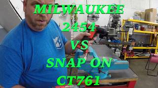 Download MILWAUKEE 2454 VS SNAP ON CT761 Video