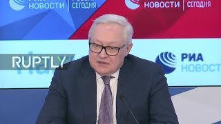 Download LIVE: Russia's Deputy Foreign Minister Ryabkov speaks to press on arms control Video