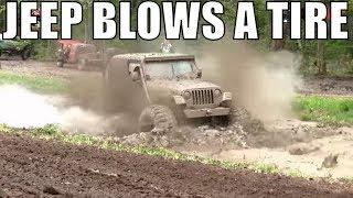 Download Jeep Blows A Tire Mudding At Walton's Mud Bog 2018 Video