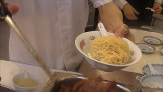 Download Hong Kong Food. Action in the Kitchen. Preparation of Noodles and Dumplings. Chinese Restaurant Video
