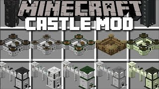 Download Minecraft CASTLE MOD / BUILD CASTLE'S AND USE THEM TO SURVIVE !! Minecraft Video