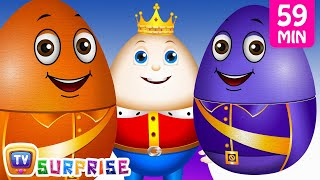 Download Learn Colours with Surprise Nesting Eggs Nursery Rhymes Toys | Humpty Dumpty | ChuChu TV Field Trip! Video