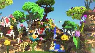 Download Custom Flower Forest Biome | Fairy Village | Minecraft Timelapse Video