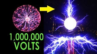 Download DIY Overclocked Plasma Globe. 2500V to a MILLION volts Video