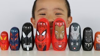 Download Spider Man And Iron Man Surprise Nesting Dolls Opening Fun With Ckn Toys Video