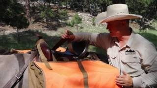 Download XL Hunting Pack Pannier - Riding Saddle Set Up - mountainridgegear Video