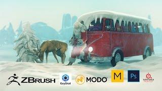 Download Waiting for Santa - Zbrush, Marvelous Designer, Modo, Substance Painter, Keyshot, Photoshop Video