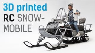 Download Сreating 1/6 scale 3D printed RC Snowmobile Video