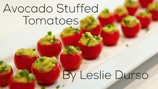 Download Perfect Healthy Appetizer: Avocado Stuffed Tomatoes Video