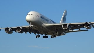 Download All 9 Airbus A380s landing at Heathrow Airport Video