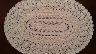 Download Crochet Doily - Elegant Oval Doily Part 4 - Final Part Video