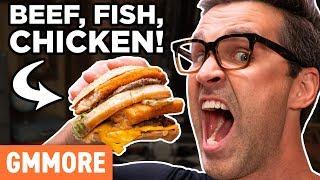 Download Secret McDonald's Menu Item: Land, Sea, and Air Burger Taste Test Video