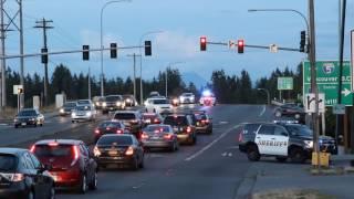Download Multiple Law Enforcement Agencies Responding Code 3 to Stolen Vehicle Call Video