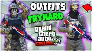 Download GTA 5 ONLINE 1.42 TOP 2 CONJUNTOS MODEADOS TRYHARD - MODDED OUTFITS [PS4/XboxOne/Pc] Video