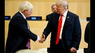 Download Boris Johnson and Donald Trump meet for first time in public Video