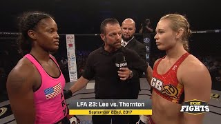 Download Fight of the Week: Andrea Lee vs. Jamie Thorton Video
