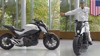 Download Future motorcycles: Honda self-balancing Riding Assist tech keeps bike balanced - TomoNews Video