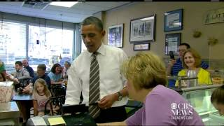 Download Obama stops for ice cream in Cedar Rapids Video