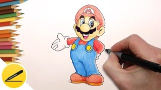 Download How to Draw Super Mario Step by Step (Nintendo Games) - Draw Super Mario Run Video