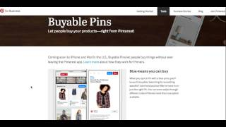 Download Buyable Pins, the new Buy it Pin on Pinterest Video