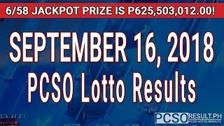 Download PCSO Lotto Results Today September 16, 2018 (6/58, 6/49, Swertres, STL & EZ2) Video