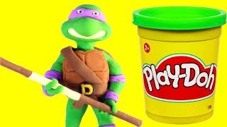 Download Ninja Turtles funny Play Doh Stop motion video for kids Video