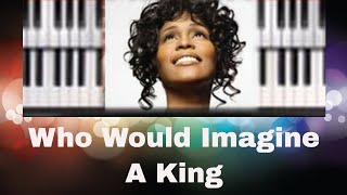 Download 🎹 How to play ″WHO WOULD IMAGINE A KING″ by Whitney Houston (easy Christmas piano lesson tutorial) Video