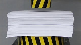 Download EXPERIMENT HYDRAULIC PRESS 100 TON vs 1000 Sheets of Paper Video