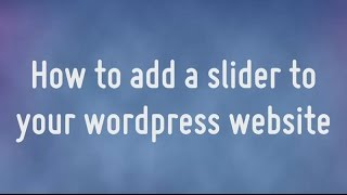 Download How to add a WOWslider to your wordpress website Video