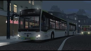Download OMSI 2. Map Gehrten V2, Line 1, Mercedes-Benz Citaro G C2 Video