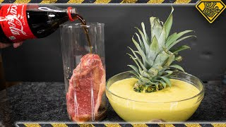 Download Will COKE and Pineapple ACID Disintegrate Meat? Video
