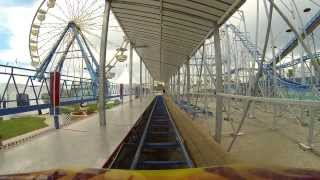 Download POV - Sand Blaster roller coaster at the Daytona Beach Boardwalk Video