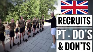 Download British Army Recruits New Intake | Do's & Don'ts Basic Training Video