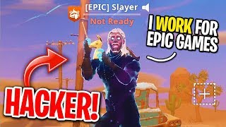 Download I MATCHED WITH A HACKER WHO HAS UNRELEASED SKINS ON FORTNITE! (Epic Games EMPLOYEE?) Video