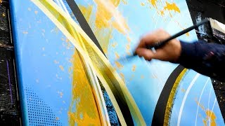Download MASKING TAPE / CURVE / ACRYLIC / ABSTRACT PAINTING / ARTsmr | Mystic Video