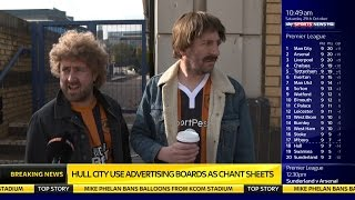 Download Hull fans embarrassed by club's ad boards! Video