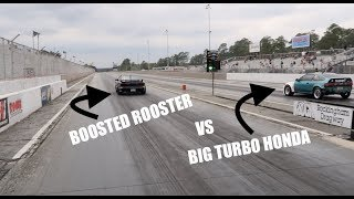 Download BIG Turbo Civic takes on THE BOOSTED ROOSTER Video