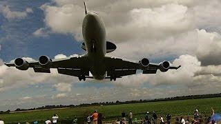 Download RAF Waddington airshow 2014 landings, some quite low Video