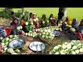 Download Cauliflower Pakura/Chop Prepared By Women - 80 KG Cauliflower Pakura Making To Feed Village Kids Video