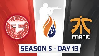 Download ECS Season 5 Day 13 - Faze vs Fnatic, Mouz vs Fnatic // SK vs Optic, Cloud9 vs Complexity Video