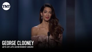 Download Amal Clooney Tribute to George | AFI 2018 | TNT Video