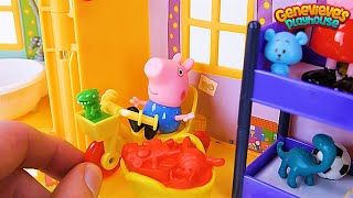 Download PEPPA PIG gets a new toy House in this Kids Learning Video! Video