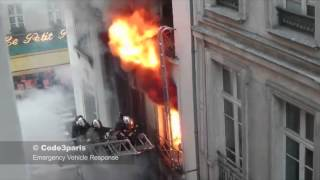 Download Dramatic Fire and Rescue From Burning Building in Paris // BSPP en Intervention Video