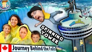 Download JOURNEY BEHIND THE FALLS + DINNER in the SKY! (FUNnel Vision Trip 2 Niagara Falls CANADA Vlog pt. 3) Video