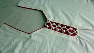 Download piping&Dori sweet heart neck design cutting and stitching in Hindi Video