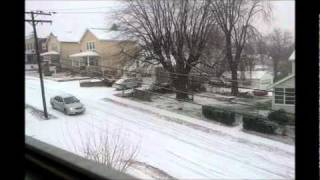 Download First snow of the season! Cars sliding~ Video