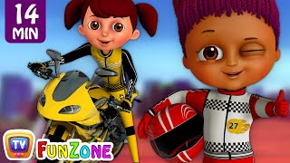 Download Learn Colours & Shapes in Bike Race & Surprise Eggs Bikes Toys - ChuChu TV Funzone 3D Motorsports Video